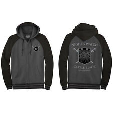 Game Of Thrones Night's Watch Oath Zip Up Hoodie Stark HBO Hooded Sweatshirt New