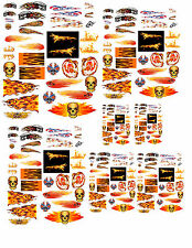 1:24 1:32 1:43 1:64 FLAMES 2 DECALS FOR DIECAST CARS & MODEL CARS