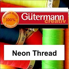 Gutermann Sew All 100% Polyester Thread 100m Bright Neon in a Range of Colours