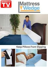 Mattress Wedge Twin Queen or King! Includes 2 attachable pockets and a cover!