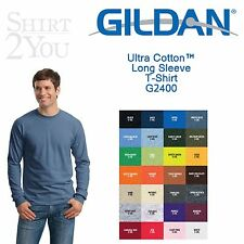 Gildan - Ultra Cotton™ Long Sleeve T-Shirt - 2400, S-5X, 28 Colors.