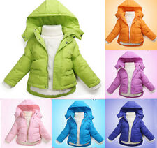 New Winter Kids Baby Girls Down Warm Coats Jacket Children Hoodies Clothes 1-6Y