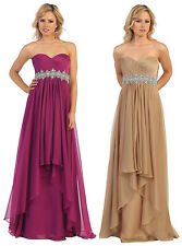 3 COLOR ELEGANT  LONG DRESS HOMECOMING EVENING FORMAL OCCASION PROM 4-16 NEW