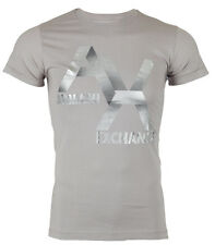 ARMANI EXCHANGE Mens T-Shirt AX LOGO Slim Fit GREY Casual Designer M-XL $48