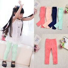 High Quality Kids Girls Toddler Clothing Lace Tight Leggings Pants Trousers 3-8Y