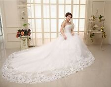 New White/Ivory Wedding Dress Gown Custom Size 2-4-6-8-10-12-14-16-18-20-22++++