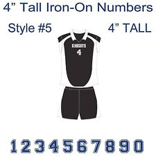 "4"" Tall Iron-On Number for Sports Jersey T-Shirt (Single Numbers 0-9) Style #5"