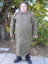 Mans Long  XL/ XXL All Weather Duster Trench Coat  Removable Liner Adjust Length