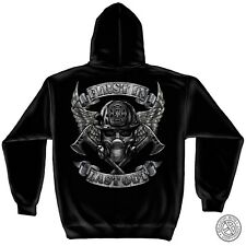 """Firefighter Hoodie """"FIRST IN - LAST OUT"""", Black, HD Color Graphics - FF-2133SW"""