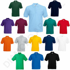 FRUIT OF THE LOOM POLO SHIRT WORK FUNCTION  SHOW T SHIRT ALL SIZES MENS DAD GIFT