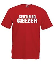 CERTIFIED GEEZER funny brothers london christmas present tee Boys Girls T SHIRT