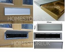 DOOR LETTER BOX PLATE SEAL METAL INTERNAL BRISTLE BRUSH / COVER DRAUGHT EXCLUDER