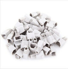 1 to 1000 pcs Ethernet RJ45 CAT5 CAT6 cord Plug Rubber Cover protector Grey Lot