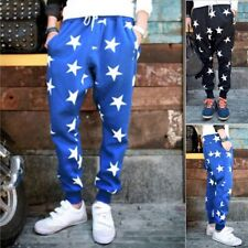 New Mens Star Printing Hip Hop Sweat Pants Harem Dance Jogger Baggy Trousers