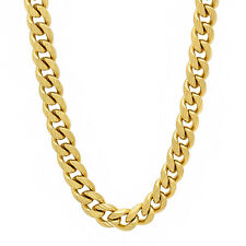 6 mm 14k Gold Layered Plated Filled Diamond Cut Miami Cuban Link Curb Neck Chain