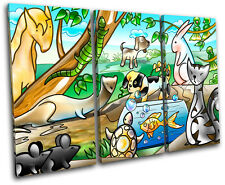 Animals Pets For Kids Room TREBLE CANVAS WALL ART Picture Print VA