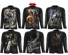 Spiral Direct Biker/Goth/Reaper/Metal/Rocker/Skull/Guns/Long Sleeve T shirts/Top