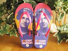 Concept One CODY SIMPSON Pink Purple Kids Slip-On Flip Flop Shoes Size 4,5