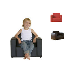 Kids Childrens black Jack PU 1 Seater Couch Lounge Sofa Chair