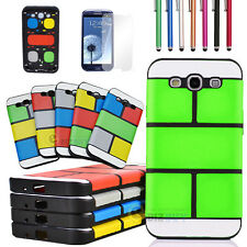 Rugged Hybrid Impact Hard Case Cover For Samsung Galaxy S III S3 i9300 +Film+Pen