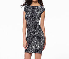 NWT Cache SEXY Black & White Snake Print Dress  OFFICE - EVENING    XS  M  L  XL