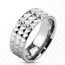 """Titan Men Ladies Ring Silver """"Pyramid Spikes"""" Jewelry Cool Body New"""