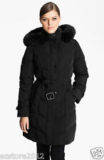 New $325 Sachi Collection by Kristen Blake Womens Genuine Fox Fur Trim Down Coat