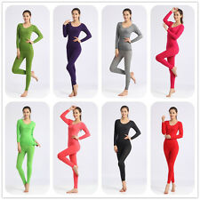 Womens Seamless Thermal shapewear Underwear Sets Stretch Lingerie suits Leggings