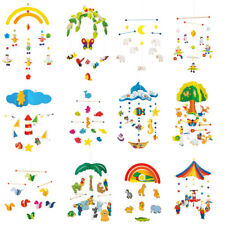 Wooden Baby Mobile Childrens Room Decoration Nursery Hanging Mobile Deco - NEW