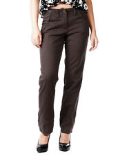 Da Nang Womens Classic Tapered Jeans Pants Slouchy Slack Trouser Brown XS S M L