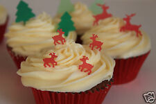 edible christmas small reindeer, pre-cut cake decorations any 4th set free