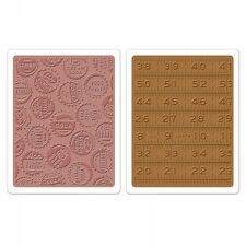 ? Sizzix Textured Impressions Embossing Folders - 658575 Bottle Caps & Rulers