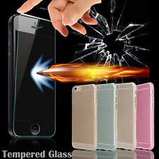 Tempered Glass Flim Front Screen Protector+TPU Case Cover For iPhone 6 /6 Plus