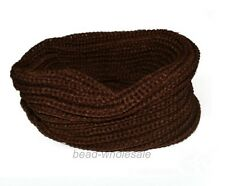 New Women Winter Warm Infinity Circle Cable Knit Cowl Neck Scarf Shawl