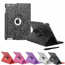 Sparkly Bling 360° Rotating Leather Stand Case Cover Apple iPad Mini & Mini II