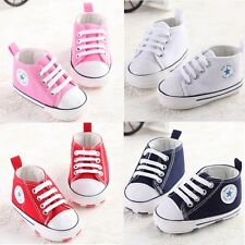 Baby shoes lovely soft sneakers boys girls infant toddler 3 sizes 0-18 months Q