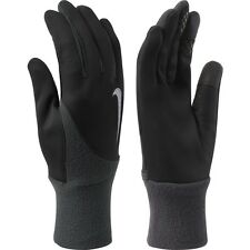 nike mens element thermal touch screen running gloves black anthracite