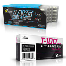 Olimp AAKG + T-100 60-180 Caps. Nitric Oxide NO Booster Testosterone Booster PCT