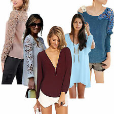 2014 New Casual Formal Evening Tops Blouse Chiffon T Shirt Party Shirts Dresses