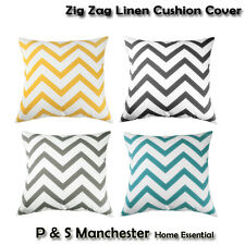 Chevron Zig Zag Printed Linen Cotton Pillowcase Sofa Throw Cushion Cover Case
