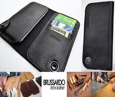 """Brussardo """"Elegante Collection"""" Italian Leather Case Wallet For Apple iPhone 6"""