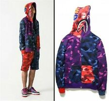 A Bathing Ape Bape Shark Pullover Hoodie Full Zip Hoody Camo Camouflage Sweats