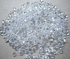 White / Clear AAAAA Round Brilliant Cubic Zirconia 1-10mm CZ