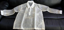 BARONG TAGALOG FOR BOYS PINA DESIGN SIZE 14  MAY FIT  TO 10-11 YEARS OLD BOYS.