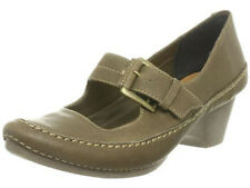 New Clarks Ladies Granola Syrup Khaki leather sandal Shoes Size UK 8