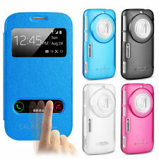 Genuine IMAK S-View Bei PU Leather Cover Case For Samsung Galaxy K Zoom C111 115