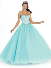 2 Color Quinceanera Ball Gown Dress Party Prom Evening Cocktail Pageant 4 To 16
