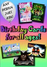 PERSONALISED birthday card. Large A5 size 100's designs inc disney greetings..