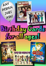 PERSONALISED birthday card Large A5 size 100's of designs incl disney greetings