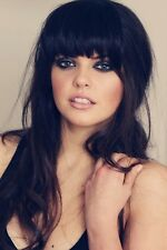 CLIP IN ON FRINGE BANGS 100% HUMAN HAIR ' FREE COLOUR MATCH SERVICE' SEE VIDEO'